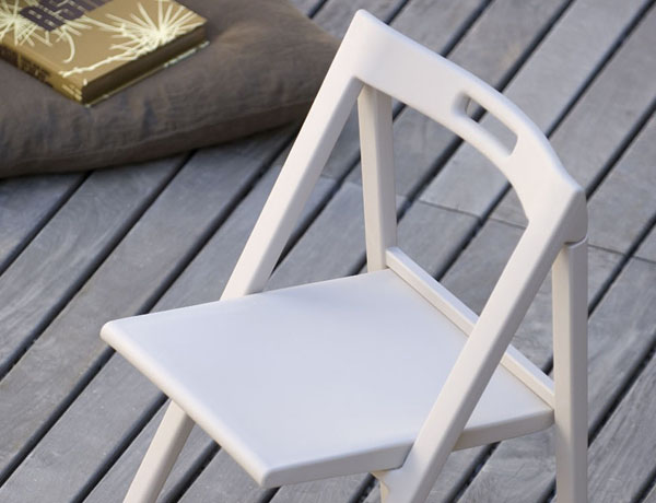 Silla plegable enjoy blanca for Silla plegable blanca
