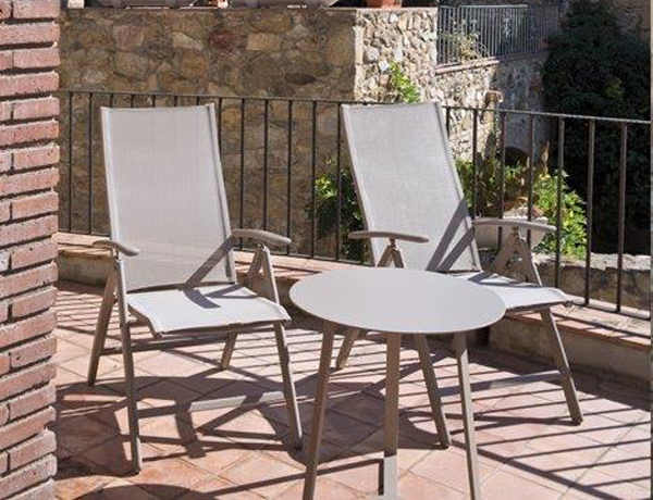 Sill n reclinable champagne for Sillon reclinable exterior
