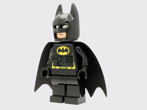 Lego Super Heroes Batman Minifig clock