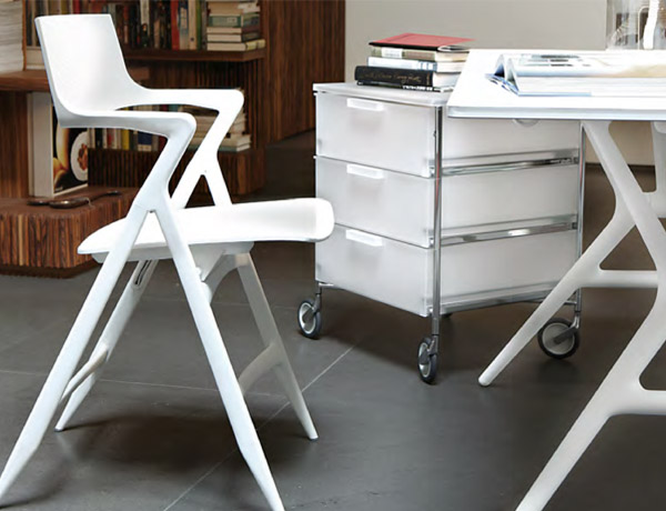Silla plegable dolly blanca for Silla plegable blanca