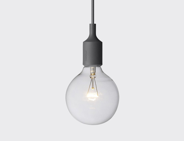 E27 SOCKET LAMP D/GREY