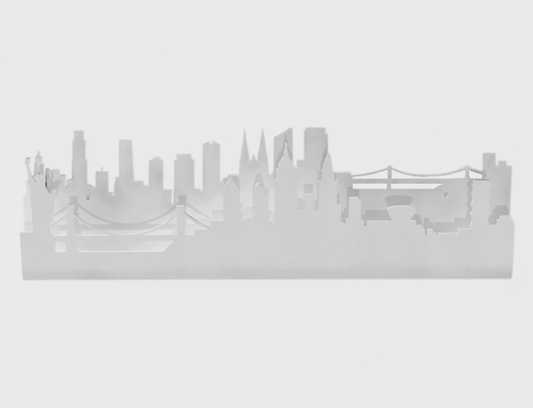Colgador Skyline New York blanco