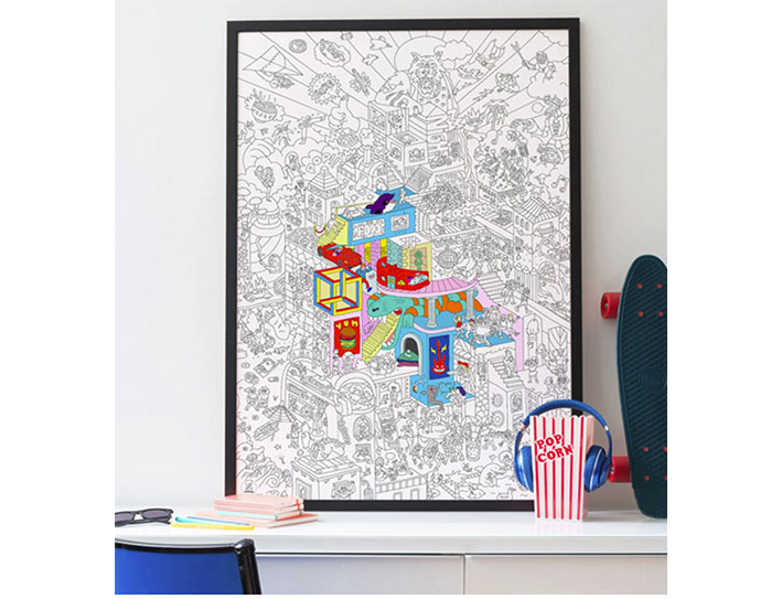 COLORING POSTER PARTY 100X70